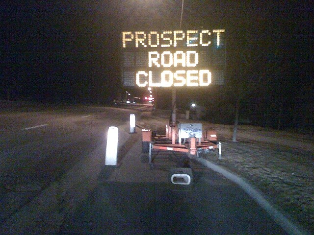 Prospect Road Closed