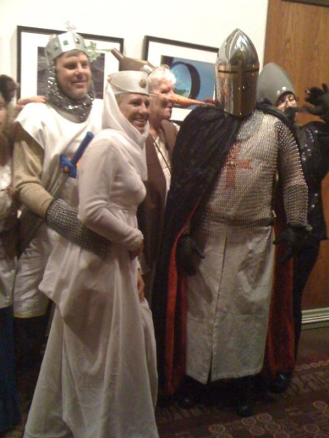 Spamalot fans in UCCC Lobby