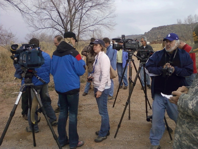 Press covering the Crystal Mountain Fire