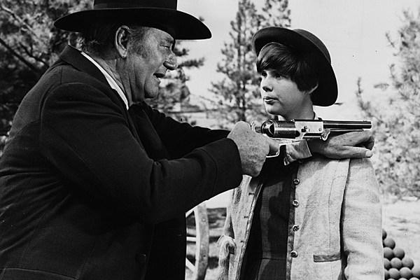 John Wayne and Kim Darby
