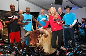 Chad Ochocinco and other NFL stars at Reebok Lunch
