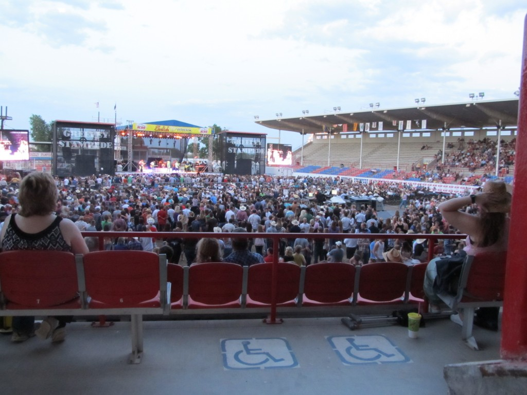 Little Big Town Crowd at the Greeley Stampede