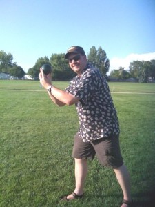 Todd with bocce ball