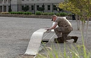 Visitors View Pentagon Memorial After Bin Laden is Killed
