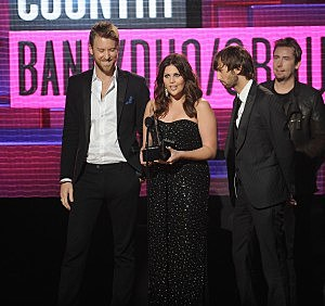 Lady Antebellum accept Country Band, Duo or Group award