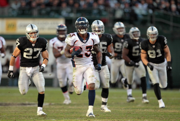 Willis McGahee - Denver Broncos vs Oakland Raiders