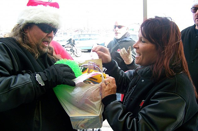 Brian Gary & D Dennison at One Extra Gift Toy Drive
