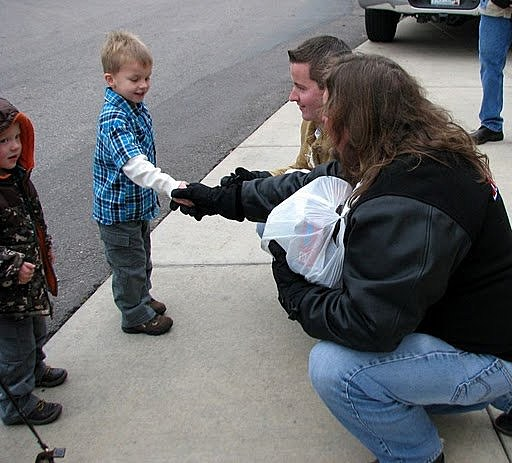 Little guy makes donation