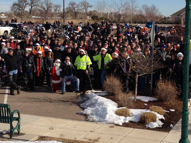 Sleighriders Toy Run Group Photo