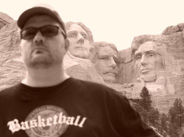 Todd's Head Replaces George Washington at Mt Rushmore