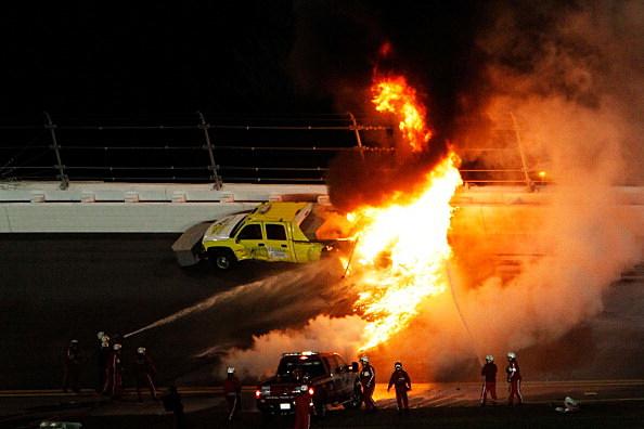 54th Annual Daytona 500 Montoya Fire