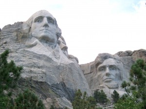 Washington & Lincoln at Mt Rushmore
