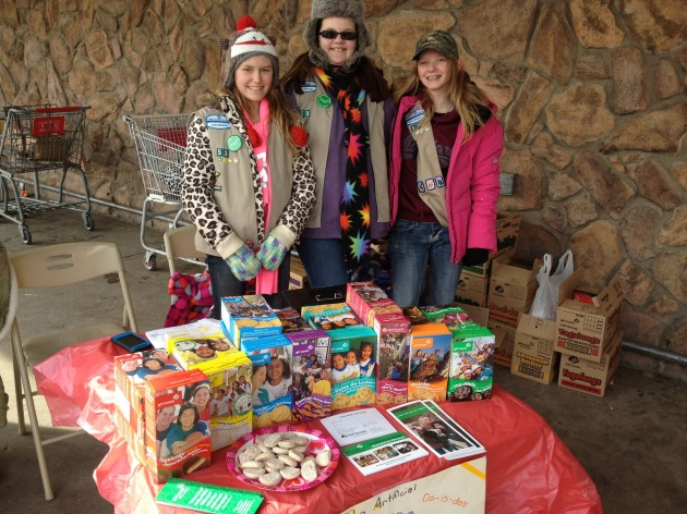 Girl Scouts from Troop 53 in Nunn