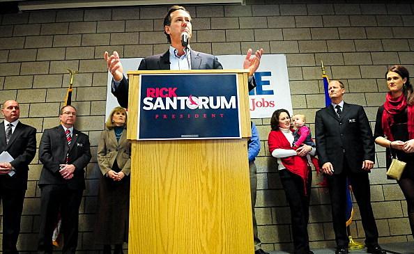GOP Presidential Candidate Rick Santorum