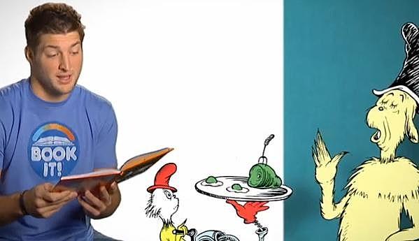 Tim Tebow Reads Green Eggs & Ham