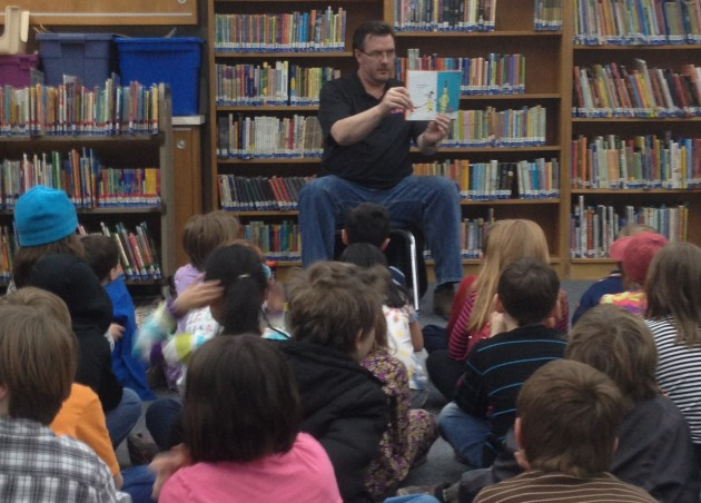 Todd Reading at Thompson Elementary in Loveland