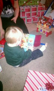 Brian's Grandson Zander Reading a Book