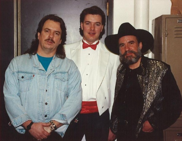 Todd Harding with the Bellamy Bros and Permed Mullet