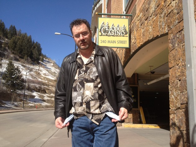 Todd Harding in front of the Lodge Casino in Blackhawk