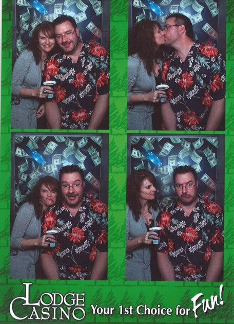 Photo booth picture of Jenny & Todd