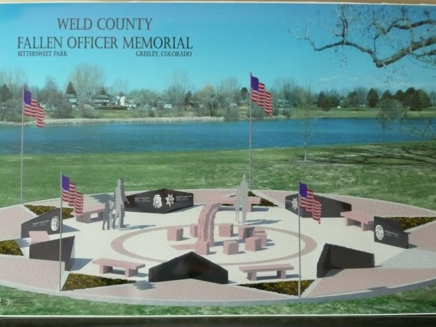 Artist rendering of the Weld County Fallen Office Memorial