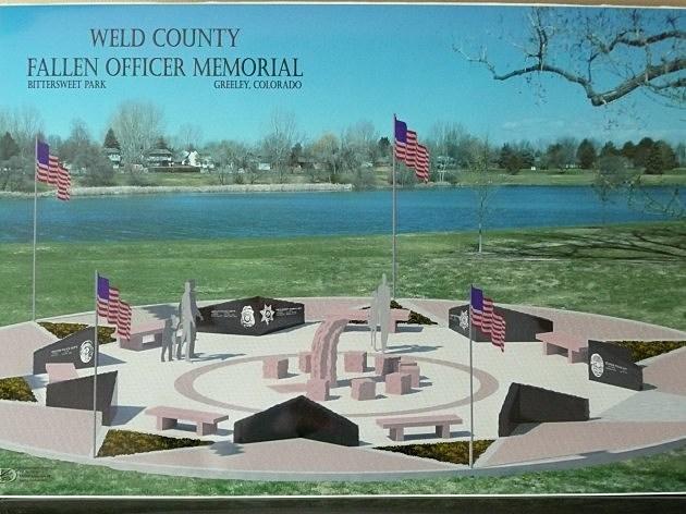 Artist rendering of the Weld County Fallen Office Memorial