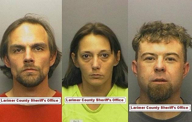 Larimer County Felony Suspects Donald Rheubottom, Jessica Hornback & Jesse Dale Malouff