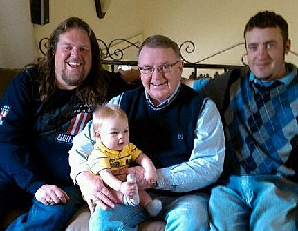 Brian with his Dad, Son, and Grandson