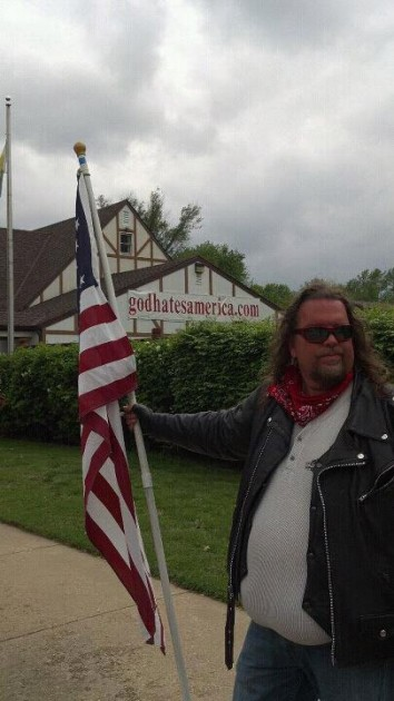 Brian stands in front of Westboro Baptist Church
