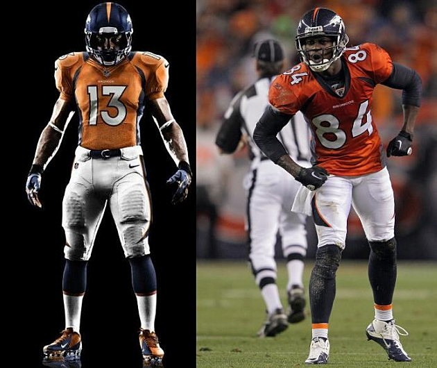 New and old Broncos Jerseys