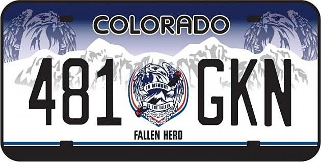 Fallen Hero License Plate
