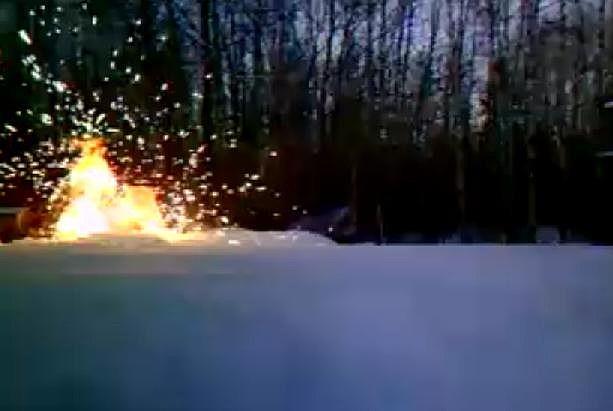 Campfire started by Gunshot