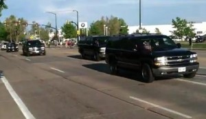 The Presidential Motorcade in Boulder