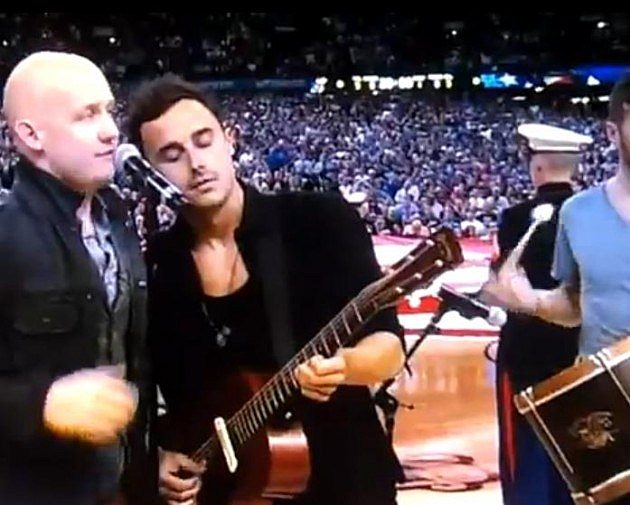 The Fray Sings National Anthem