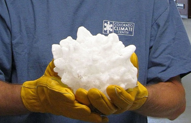 record South Dakota hailstone from 201