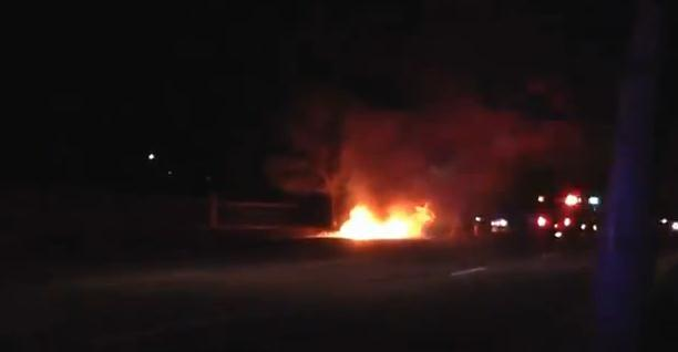 Fiery Crash caused by Miller Moth