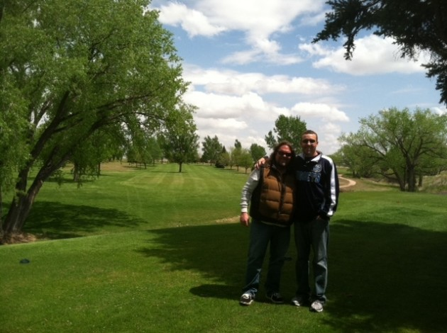 me and nick on course