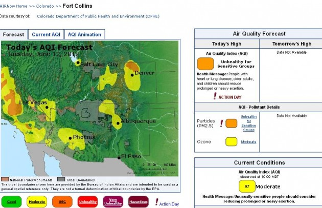 High Park Fire Air Quality