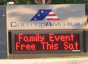 College America - Family Event Free This Saturday