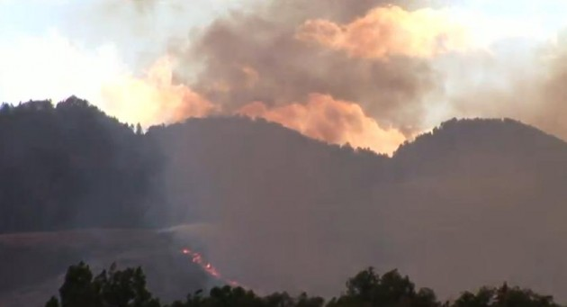 High Park Fire near Horsetooth Reservoir