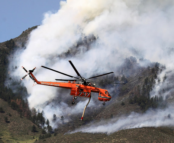 Helicopter Fights High Park Fire