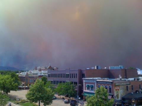 High Park Fire Old Town Fort Collins