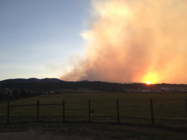 High Park Fire from Overland Trail in Fort Collins