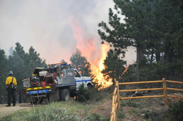 Poudre Fire Authority Fighting High Park Fire