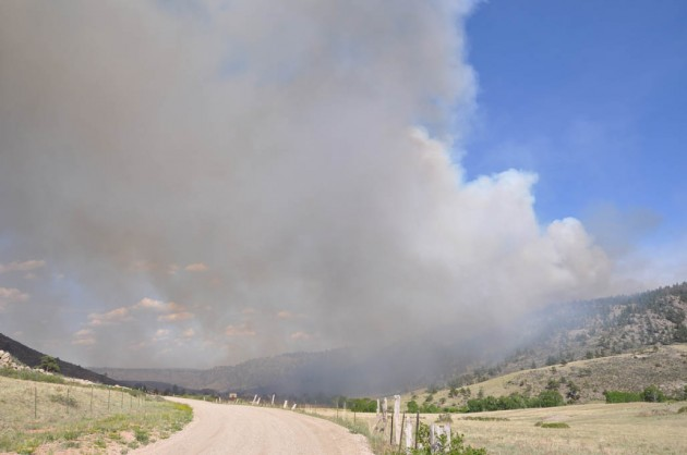 Stuart Hole Fire northwest of Fort Collins