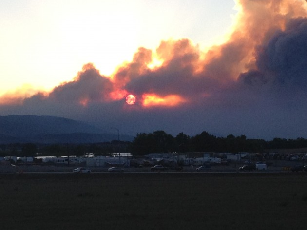 Smoke over Fort Collins from High Park Fire 6/10/12