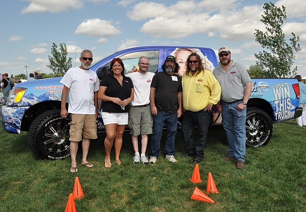 2012 Nissan Titan Crew Cab 4x4 winner David Miller with K99 Air Staff