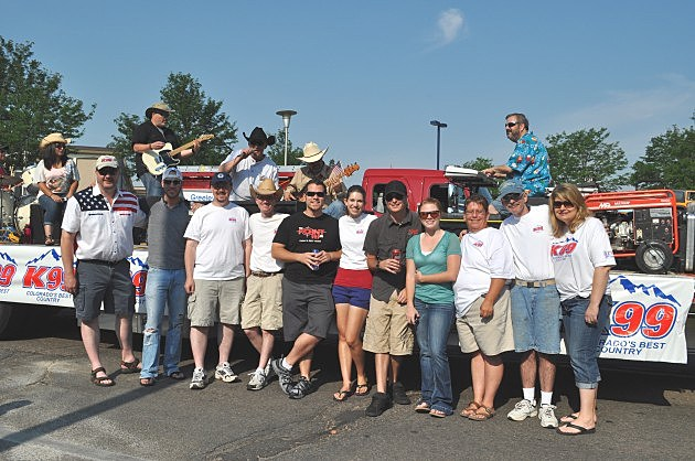 Townsquare Media Staff in Greeley Stampede Parade