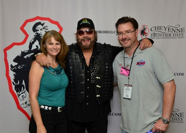 Todd Harding & Wife Jenny with Hank Jr. at Cheyenne Frontier Days