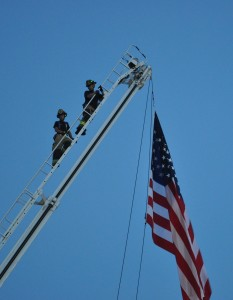 Poudre Fire Authority Ladder & Flag